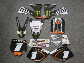 KTM White/Orange Monster Graphics & Backgrounds