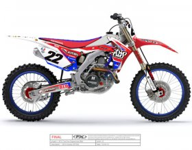 CRF 450 2013 Honda Chad Reed Red Bud Graphics