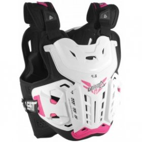 CHEST PROTECTOR 4.5 WHITE/PINK JACKI LADY