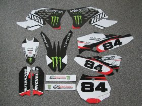 KTM White/Red Monster Graphics & Backgrounds