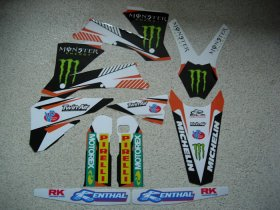 KTM EXC 01-07 White Monster Graphics