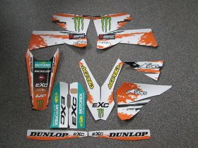 KTM EXC 05-07 White Monster graphics