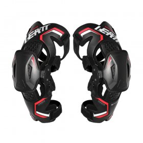 KNEE BRACE X-FRAME BLACK/RED (PAIR) LARGE