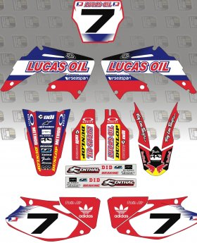 CRF150 2014 TLD Lucas Oil Full Graphics Kit