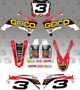 CRF150 2014 Geico Honda Full Graphics Kit