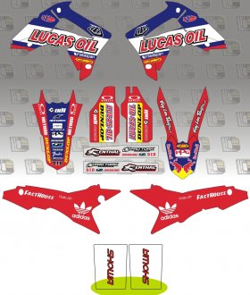 2014 TLD Lucas Oil Graphics Kit
