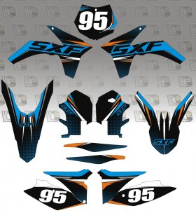KTM SX/SXF Gravity Graphics Kit