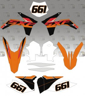 KTM SX/SXF 2014 Stock Graphics Kit