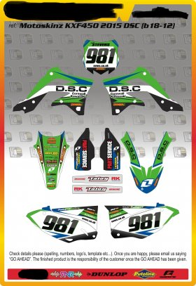 KXF 450 12 - 15 DSC Kawasaki Team Kit
