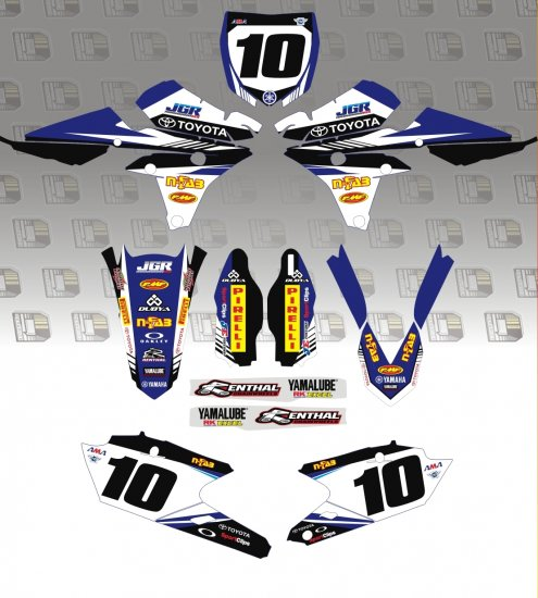YZ 2014 JGR/Toyota Team Graphics Kit