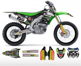 KXF 250/450 04-14 2014 Team Oakleaf Kawasaki Graphics