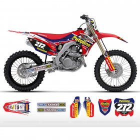 CRF150 2014 Putoline Honda Full Graphics Kit