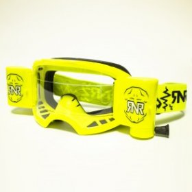 RNR COLOSSUS WVS GOGGLE WITH 48MM FILMS NEON YELLOW