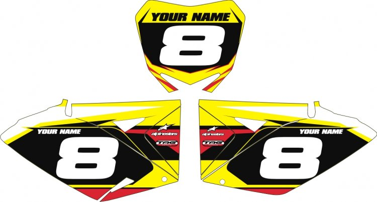 Custom Backgrounds Air Box for RMZ 250/450