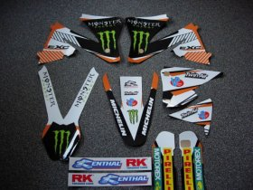 KTM EXC 01-02 White Monster Graphics
