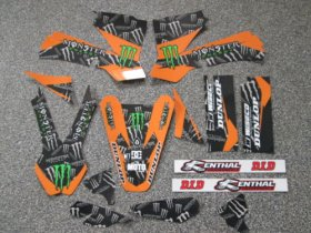 KTM Orange Monster Energy Graphics Kit
