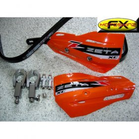 Zeta Orange Enduro Supermoto Handguards