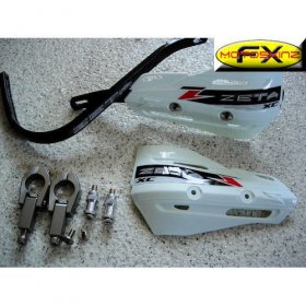 Zeta White Enduro Supermoto Handguards