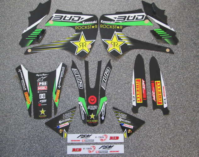 KX 65/85 New Bud Racing Rockstar Graphics - £79 95 : MotoSkinzFX UK
